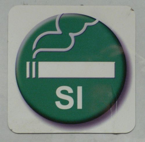 Smoking allowed bar