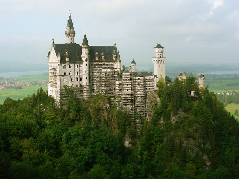 Neuschwanstein, getting a touch-up from the Imagineers