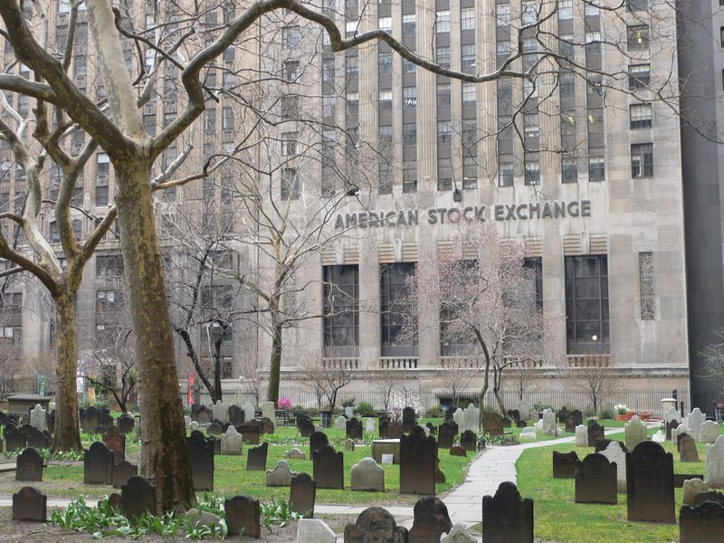 From the Graveyard of the Trinity Church, Lower Manhattan