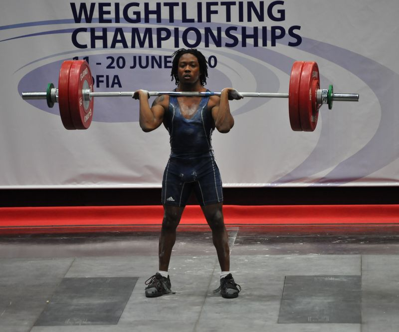 World Weightlifting Championships--Sofia day 3 055