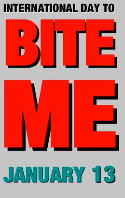 BITE ME TEXT GREY VERTICAL