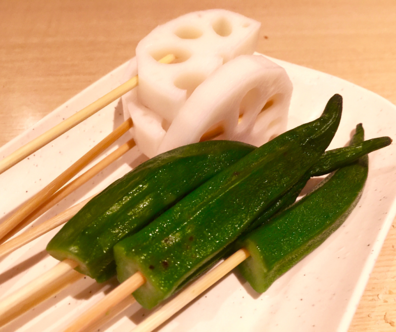 Lotus root and okra